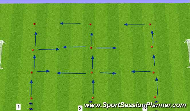 Football/Soccer Session Plan Drill (Colour): Agility W/O Ball/W/Ball