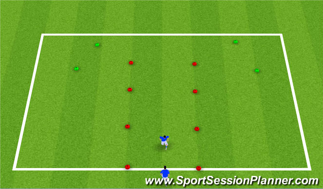 Football/Soccer Session Plan Drill (Colour): Optional: Defensive Warm-up