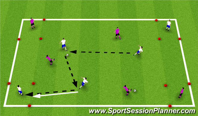 Football/Soccer Session Plan Drill (Colour): Find a friend possession