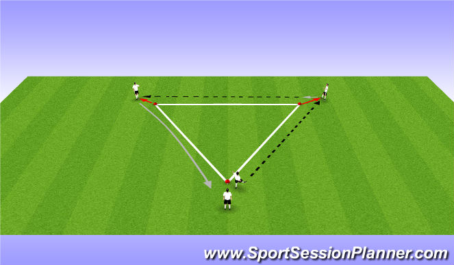 Football/Soccer Session Plan Drill (Colour): Recieving