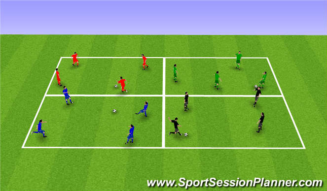 Football/Soccer Session Plan Drill (Colour): Passing - set up