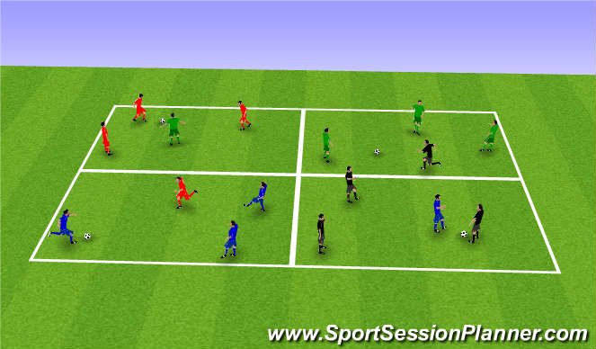 Football/Soccer Session Plan Drill (Colour): Passing - prog 1