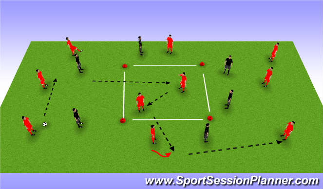 Football/Soccer Session Plan Drill (Colour): Possession :box