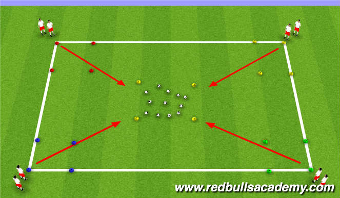 Football/Soccer Session Plan Drill (Colour): Easter eggs hunt