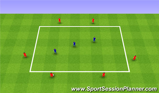 Football/Soccer Session Plan Drill (Colour): 1st phase Playing out of the back. I faza wyprowadzenia.
