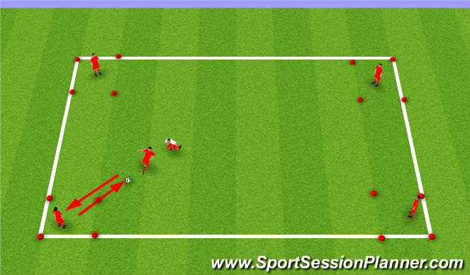 Football/Soccer Session Plan Drill (Colour): Receiving Corners