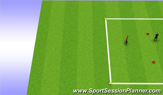 Football/Soccer Session Plan Drill (Colour): 3 vs 1 into 5 vs 3