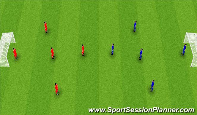 Football/Soccer Session Plan Drill (Colour): Spila 5 á 5.