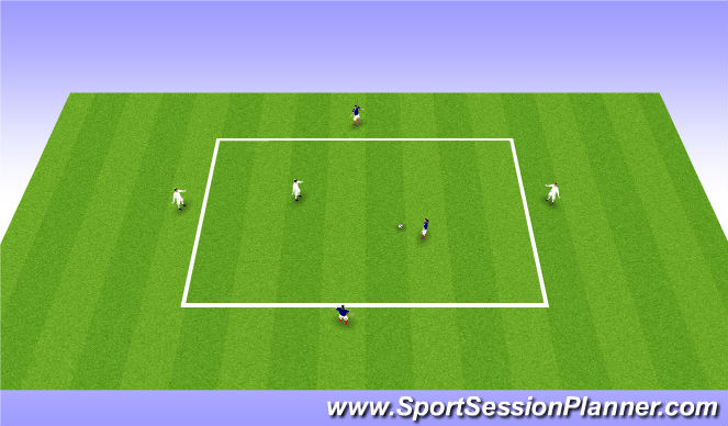 Football/Soccer Session Plan Drill (Colour): Protecting the ball - extension