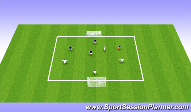 Football/Soccer Session Plan Drill (Colour): Conditioned Game -