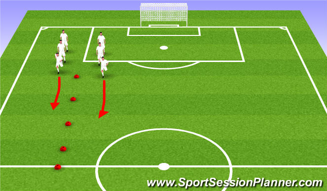 Football/Soccer Session Plan Drill (Colour): Dynamic Warmup & Stretch