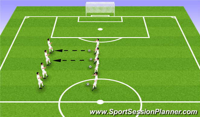 Football/Soccer Session Plan Drill (Colour): Passing in Two's