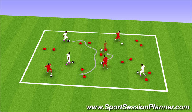 Football/Soccer Session Plan Drill (Colour): 技术2