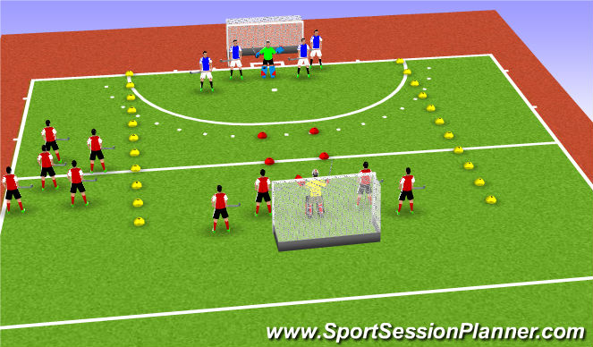 Hockey Session Plan Drill (Colour): Game 5s