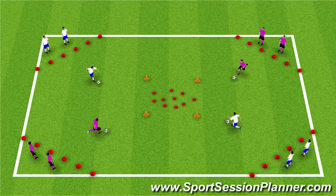 Football/Soccer Session Plan Drill (Colour): Treasure Island