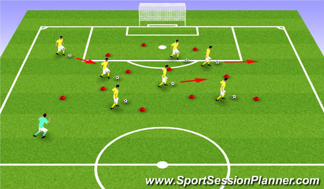 Football/Soccer Session Plan Drill (Colour): U6 - Super Mario Bros.