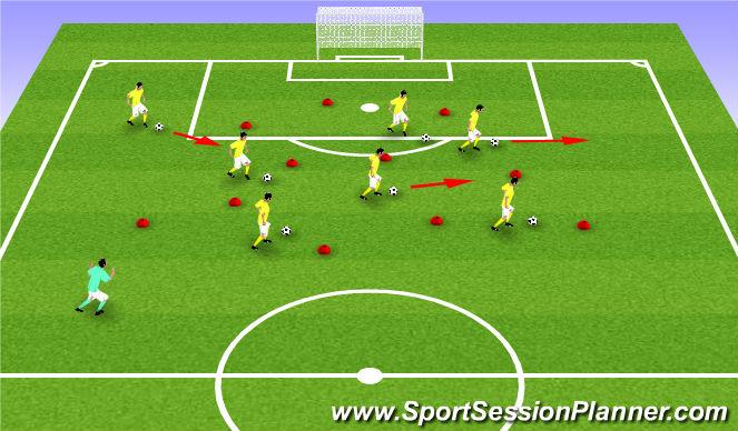 Football/Soccer Session Plan Drill (Colour): U6 - Super Mario Bros.