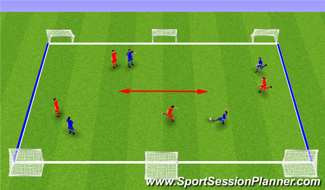 Football/Soccer Session Plan Drill (Colour): Long & Narrow