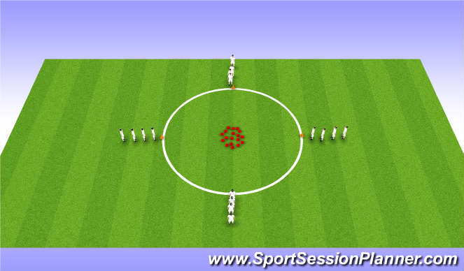 Football/Soccer Session Plan Drill (Colour): Agility Reaction