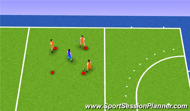 Hockey Session Plan Drill (Colour): Lummelen