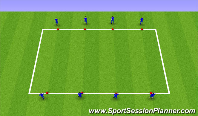 Football/Soccer Session Plan Drill (Colour): Arrival Game