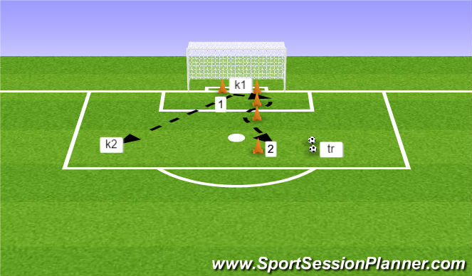 Football/Soccer Session Plan Drill (Colour): Oefening 3