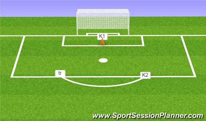 Football/Soccer Session Plan Drill (Colour): Tussenvorm