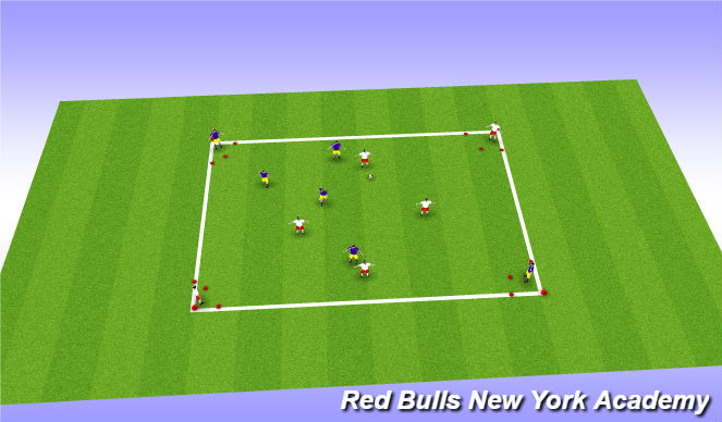 Football/Soccer Session Plan Drill (Colour): Small Sided Game -4v4