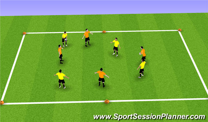 Football/Soccer Session Plan Drill (Colour): Basic form