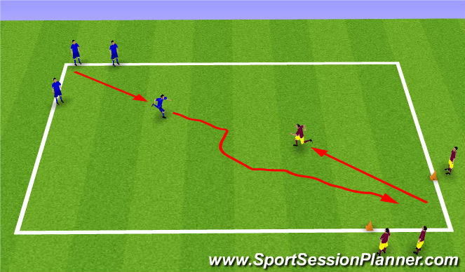 Football/Soccer Session Plan Drill (Colour): Warm Up 1/2