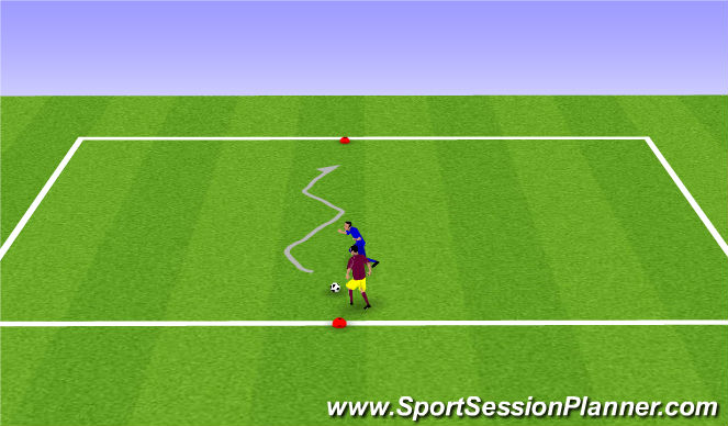 Football/Soccer Session Plan Drill (Colour): Warm Up 2/2