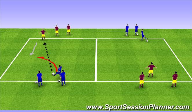 Football/Soccer Session Plan Drill (Colour): Main Theme 1/2