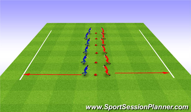 Football/Soccer Session Plan Drill (Colour): Warm up - Snatch the bacon