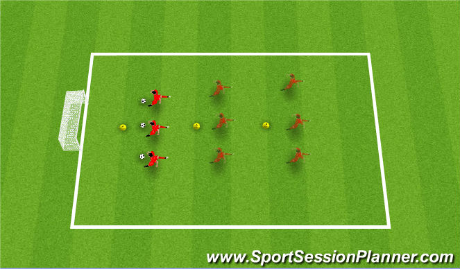 Football/Soccer Session Plan Drill (Colour): Mesh
