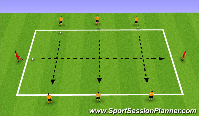 Football/Soccer Session Plan Drill (Colour): Cross the street