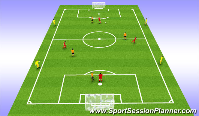 Football/Soccer Session Plan Drill (Colour): Outside players.