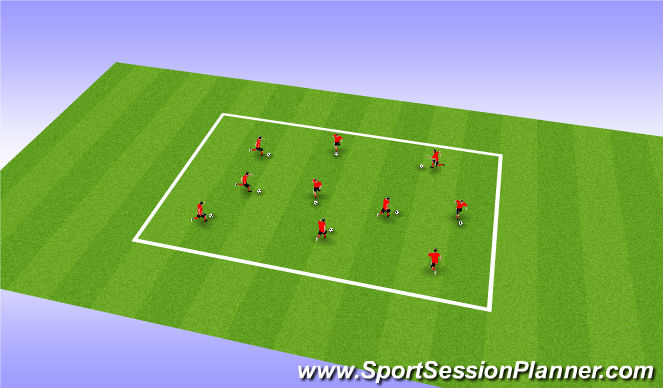 Football/Soccer Session Plan Drill (Colour): Technical Session