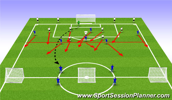 Football/Soccer Session Plan Drill (Colour): 7+1 vs 8