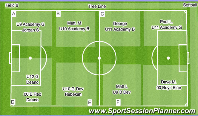 Football/Soccer Session Plan Drill (Colour): Field 6