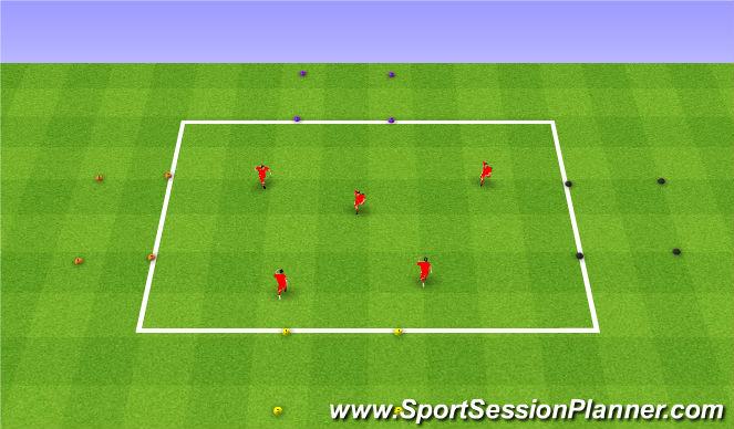 Football/Soccer Session Plan Drill (Colour): Driving a car. Prowadzenie auta.