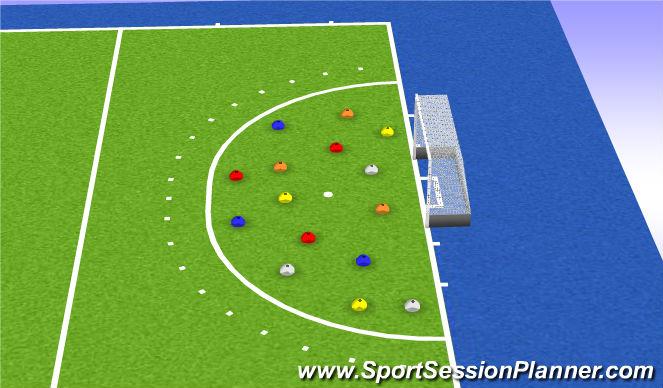 Hockey Session Plan Drill (Colour): Kleurenveld