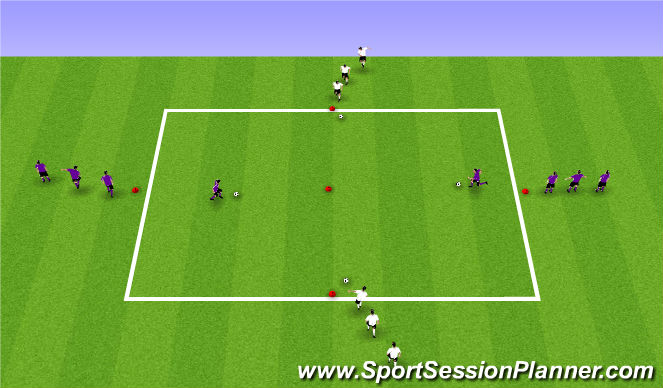 Football/Soccer Session Plan Drill (Colour): Warm up - Technical