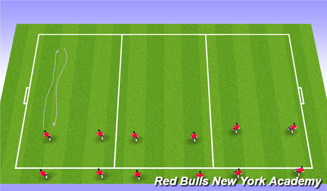 Football/Soccer Session Plan Drill (Colour): Technical block 15 mins
