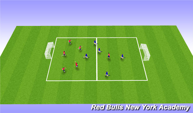 Football/Soccer Session Plan Drill (Colour): Free SSG 30 mins