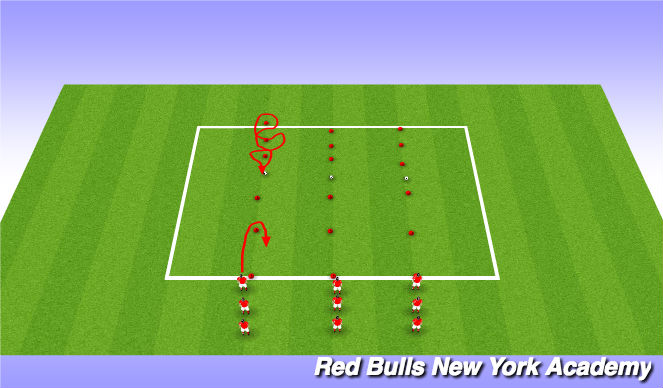 Football/Soccer Session Plan Drill (Colour): Warm