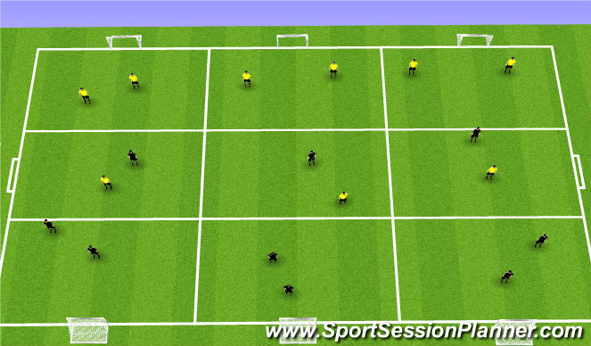Football/Soccer Session Plan Drill (Colour): SS warm up