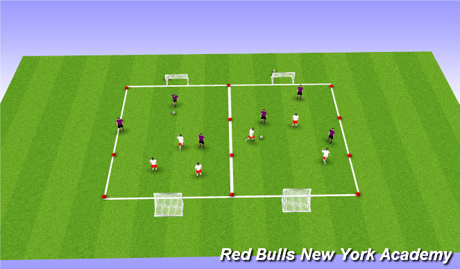 Football/Soccer Session Plan Drill (Colour): Small Sided Tournament