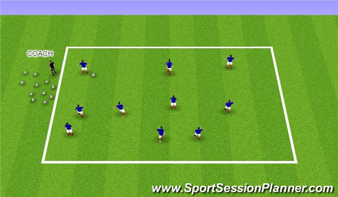 Football/Soccer Session Plan Drill (Colour): Dribble Tig