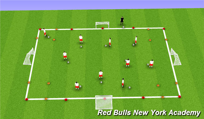 Football/Soccer Session Plan Drill (Colour): Animal Frenzy!