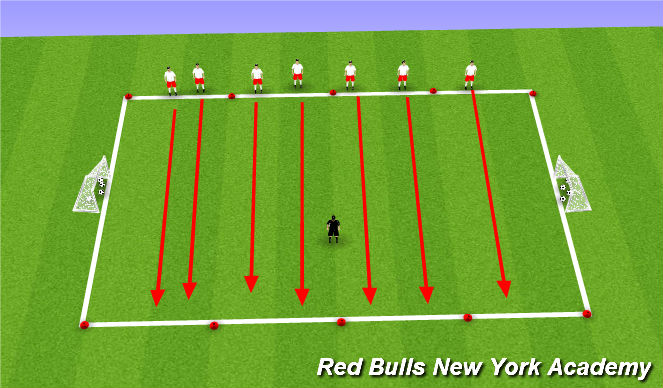 Football/Soccer Session Plan Drill (Colour): Zoo Keeper Tag